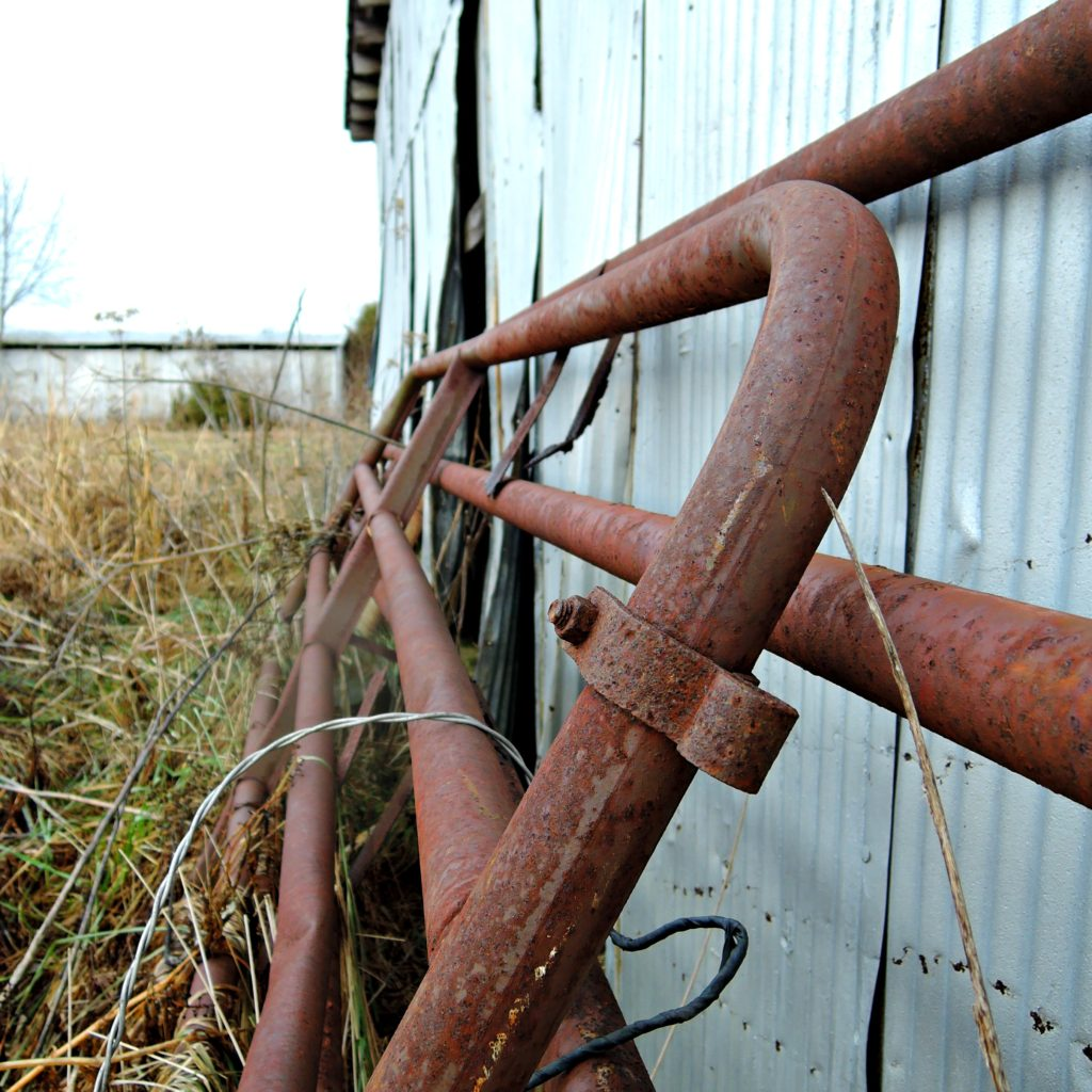 Retired cattle gates
